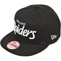 NEW ERA(ニューエラ)  帽子 9fifty スナップバックキャップ NFL オークランド レイダース 黒/白