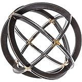 Medium Black & Gold Iron Band Decorative Sphere