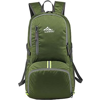 折りたたみ リュック リュックサック 旅行 携帯 軽量 コンパクト エコバッグ23l (グリーン)