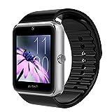 Antech G8 スマートウォッチ smart watch Bluetooth搭載 多機能腕時計 スマートデジタル腕時計 スマート ウォッチ Watch 健康 タッチパネル 着信お知らせ/置き忘れ防止/歩数計/高度計/アラーム時計 (シルバー)