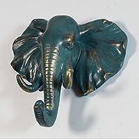 Non-brand 装飾的な象の頭の壁は、ハンガー樹脂コート帽子フック素朴なブロンズマウント