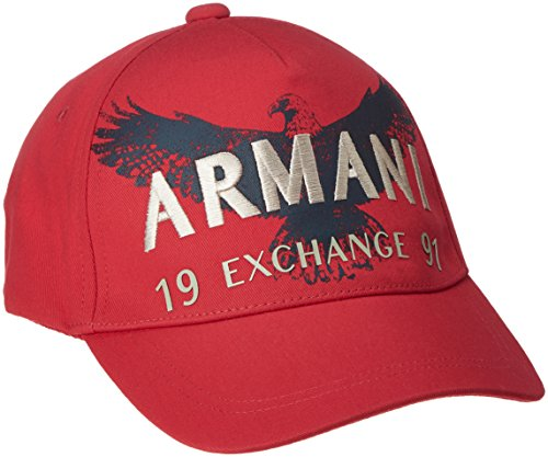 (AX アルマーニ エクスチェンジ)AX ARMANI EXCHANGE A|X ARMANI EXCHANGE イーグルロゴキャップ 954085/6A092 20874 ABSOLUTE RED TU