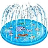 噴水マット 噴水おもちゃ プール噴水 子供水遊び アウトドア噴水池 家庭用/芝生遊び/水遊び/親子遊び/アウトドア/芝生お庭な/誕生日プレゼント 直径170CM