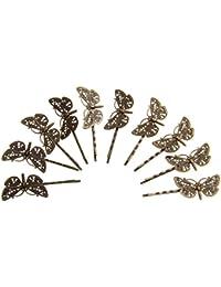 Lovoski ヴィンテージ ヘアグリップ ボビーピン 髪飾り 蝶結び ヘアアクセサリ 10個入り 贈り物 全6色