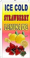 垂直Ice Cold Strawberry LemonadeレモンADEカーニバルFairパーティーバナーさまざまなサイズビニールバナー 4' X 8'