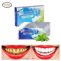 URHOMY 歯のホワイトニングストリップ感度なしホーム歯の漂白歯のホワイトニング用ホワイトストリップ