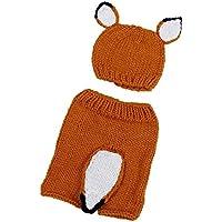 新生児写真ラップ、ftxj Baby Girl Boy 0 – 3ヶ月かわいいフォックスニットかぎ針編み服服装with Hat