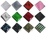 【Lavert】 ポケットチーフ chief 12点セット 専用収納 ケース入り フォーマル ・ ビジネス ・ カジュアル L520