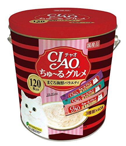 チャオ (CIAO) ちゅ~るグルメ まぐろ海鮮バラエティ 14g×120本