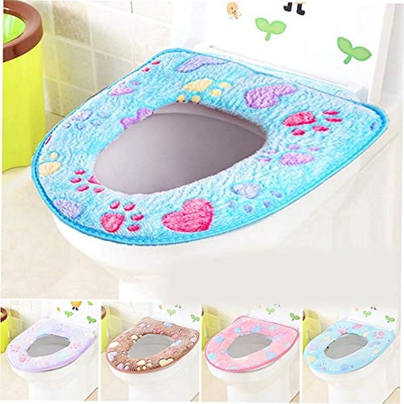 組み合わせ有限不測の事態Swiftgood トイレマット浴室柔らかく厚い暖かい便座カバーパッド伸縮性洗える布トイレ便座クッション