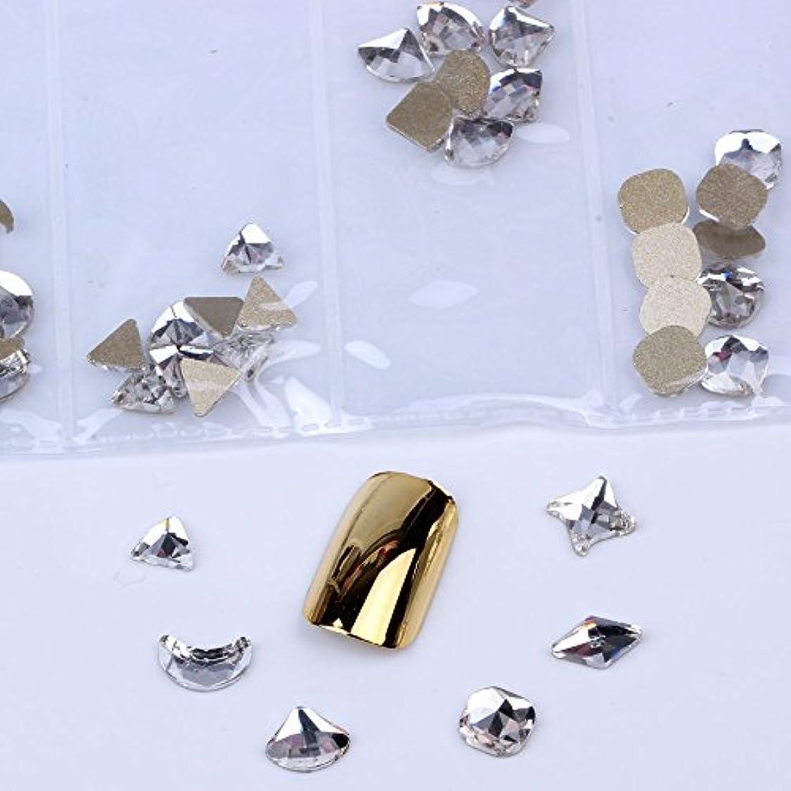 セクション再撮りフォーム混在6形60pcs / bagガラスネイルアートラインストーンフラットバックネイルステッカーDIYクラフトアート3Dジュエリー衣類装飾宝石