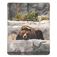 マウスパッド ゲーミング 高級感 おしゃれ 耐久性 滑り止めゴム 疲労低減 マウス パッド 180x220x3mm 動物熊の滝