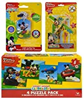 [BT]BT Disney Mickey Mouse Gift Set with LightUp Dog Tag Necklace, 2 pk Prop Gilders Planes, and Puzzle Pack Including [並行輸入品]