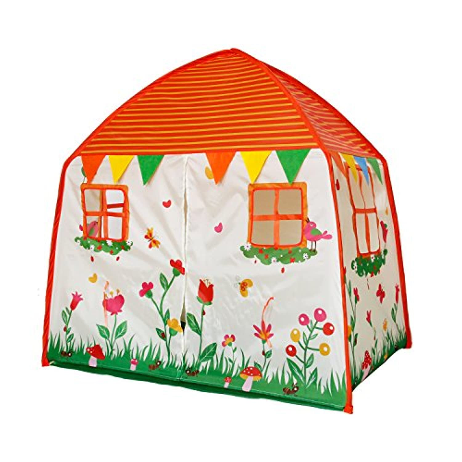 (White) - Homfu Kids Tent Playhouse For Children To Play Indoor Garden and Outdoors Toy Princess tents for Girls (Garden Playhouse) (White)