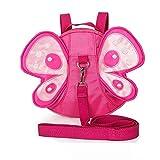 MyArmor 子供 リュック サック 迷子防止ひも リード付き ぬいぐるみ リュック ハーネス(ピンク)