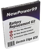 NewPower99 バッテリー交換キット Garmin Edge 820用 取り付けビデオ・工具・長寿命バッテリー付き