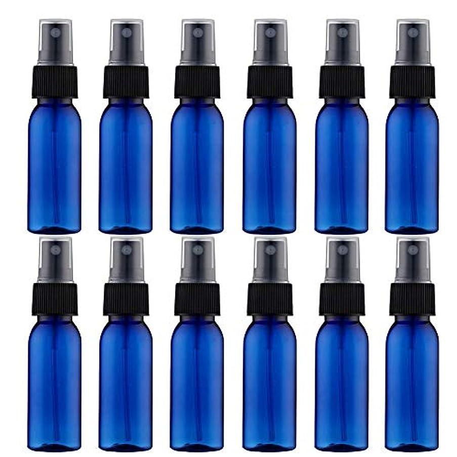 外交問題著名な多様体スプレーボトル 12本セット 詰替ボトル 遮光 空容器 霧吹き(30ml ブルー)