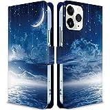 iitrust Zenfone 8 ケース 手帳型 カバー スマホケース スタンド機能 カードホルダー ストラップ穴付き 宇宙14 写真.風景