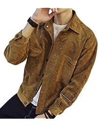 maweisong メンズルースフィット固体カジュアルラペルボタンアップジャケット