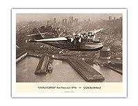 「中国クリッパー」(マーティンM-130) - サンフランシスコ1936 - パン・アメリカン航空(PAA) - によって作成された クライド・サンダーランド - アートポスター - 51cm x 66cm