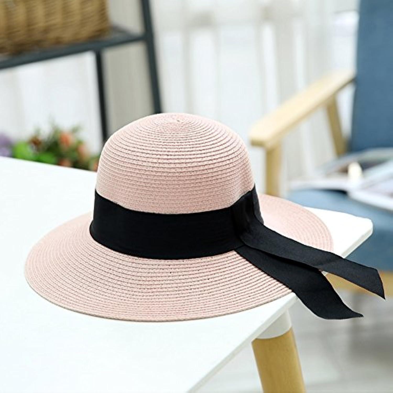 MUMA ハット カジュアルバイザー海辺の観光サンプロテクションキャップ折りたたみ式のストローハット大きなエッジのサンハット 帽子 (色 : 2)