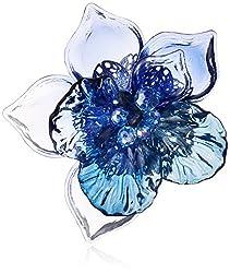 [ランバン オン ブルー] LANVIN en Bleu タンダンス フラワー ブローチ ブルー LATV0403  XB