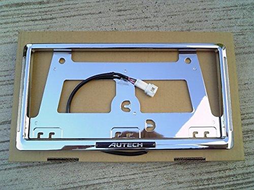 日産純正 オーテック イルミ付きナンバープレートリム(青色LEDタイプ) J50 スカイライン クロスオーバー AUTECH