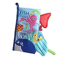Fenteer 2色選ぶ 布本 布のおもちゃ 知育玩具 教育玩具 認知おもちゃ ソフトブック 布製 動物テール 布の本 - #2
