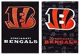 """NFL両面垂直フラグサイズ: 43"""" H x 29インチW、NFLチーム:シンシナティ・ベンガルズ"""