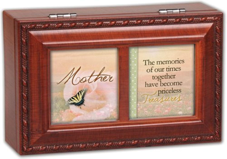 Cottage Garden Mother Memories Woodgrain Petite Music Box / Jewellery Box Plays Wind Beneath Wings