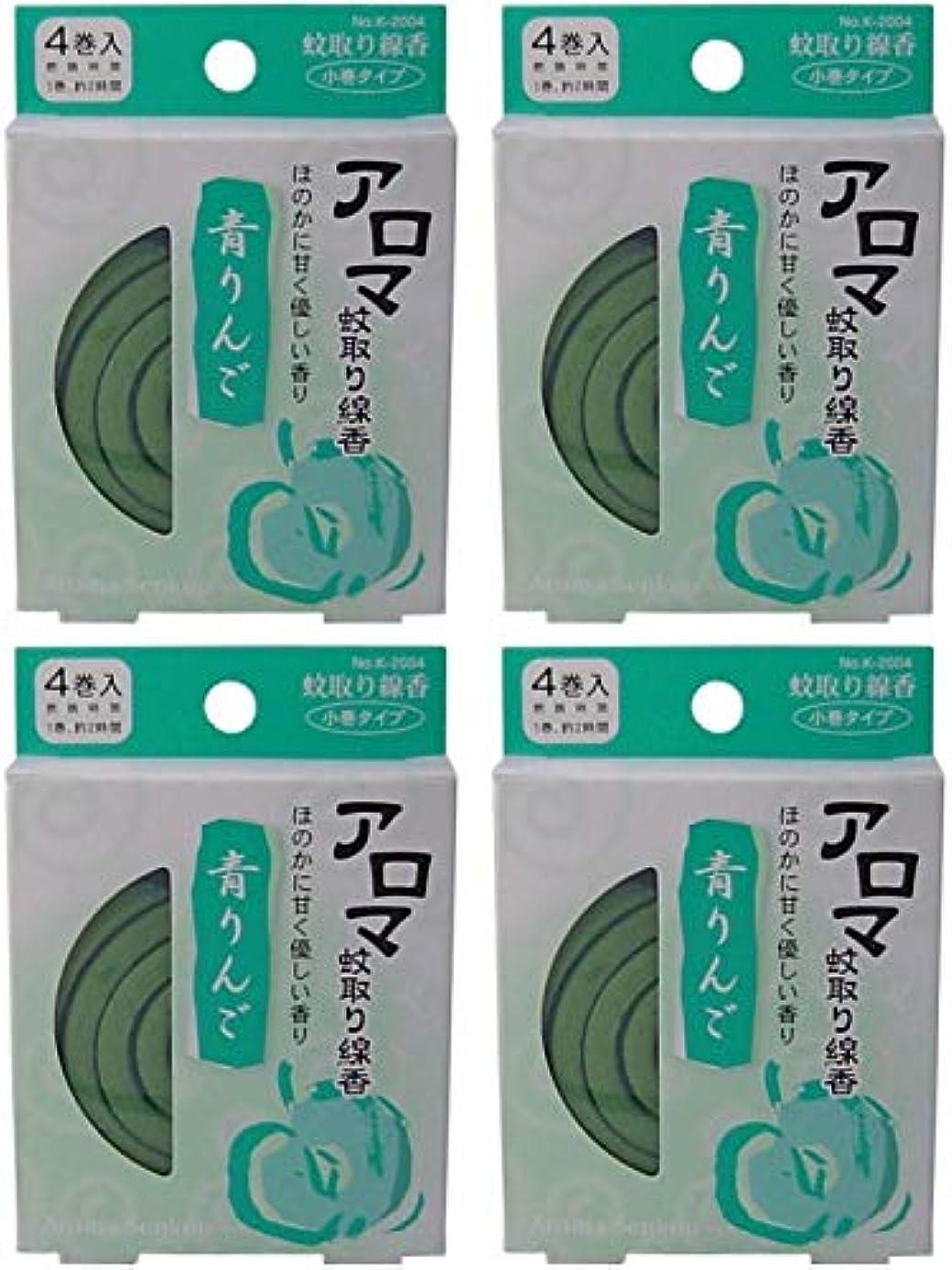 中パスタエスニック【まとめ買い】アロマ蚊取り線香 青りんご【×4個】