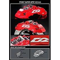 D2 レーシングスポーツ AUDI S4 (UFO) φ-φ (95-100) (HUB M12) 91~94 5X112ストリートキャリパー (ダストカバー付) SUPER 8 POT 421X36 フローティング 推奨ホイール径 : 21インチ AU15-3