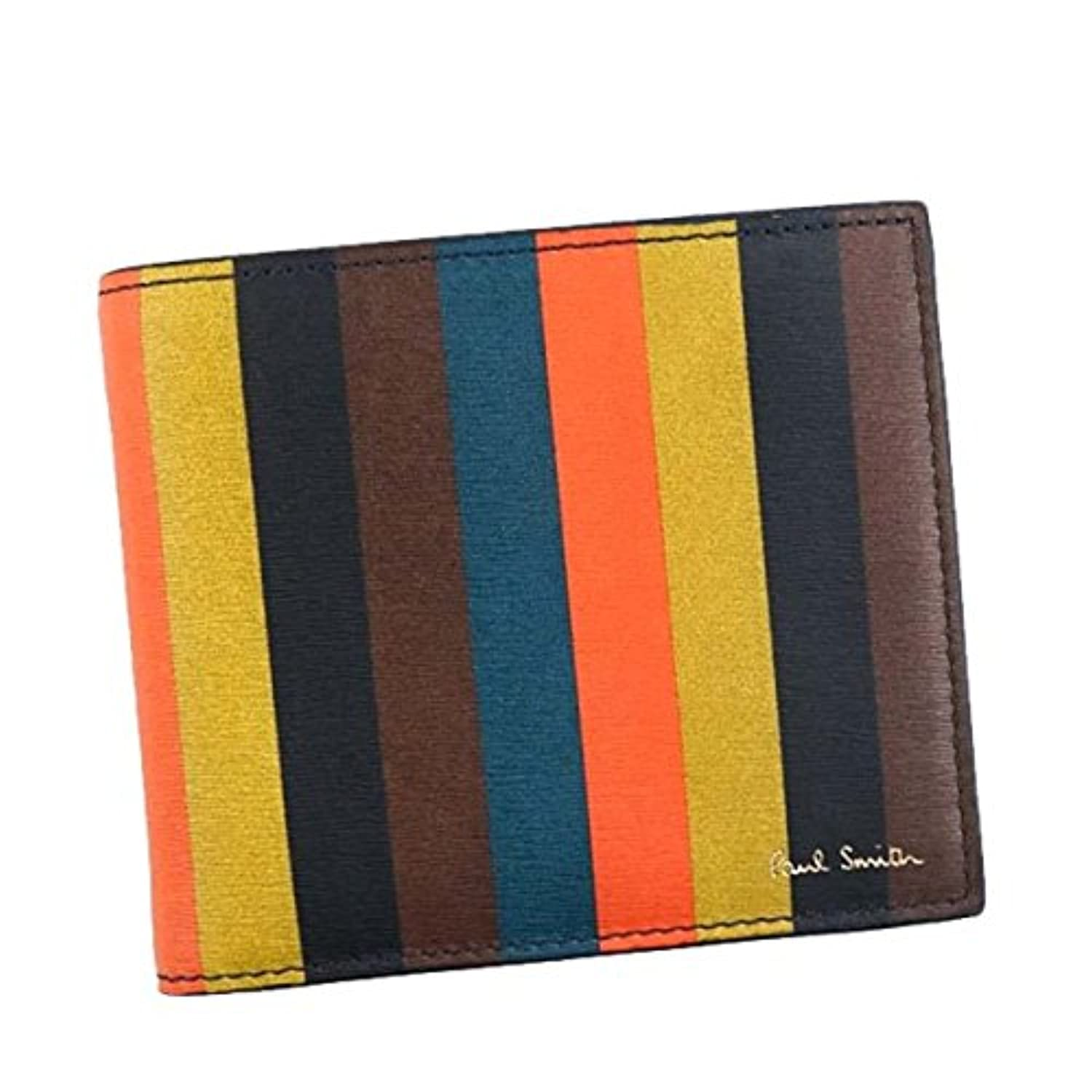 ポールスミス 財布 二つ折り財布 PAUL SMITH AUPC4833 BILLFOLD WALLET AND COIN 96 MULTI W785A 100%LEATHER 並行輸入品