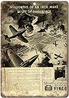 WWII Vinco Gages ティンサイン ポスター ン サイン プレート ブリキ看板 ホーム バーために