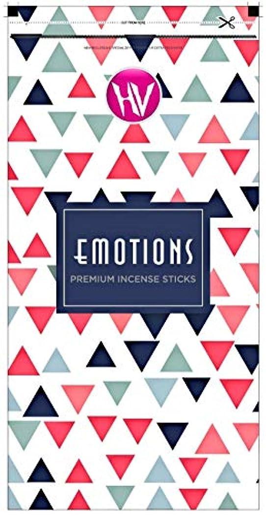 丘孤独なロンドンHV Emotions Incense Sticks (Agarbatti) Zipper Pouch 140g (Pack of 6)