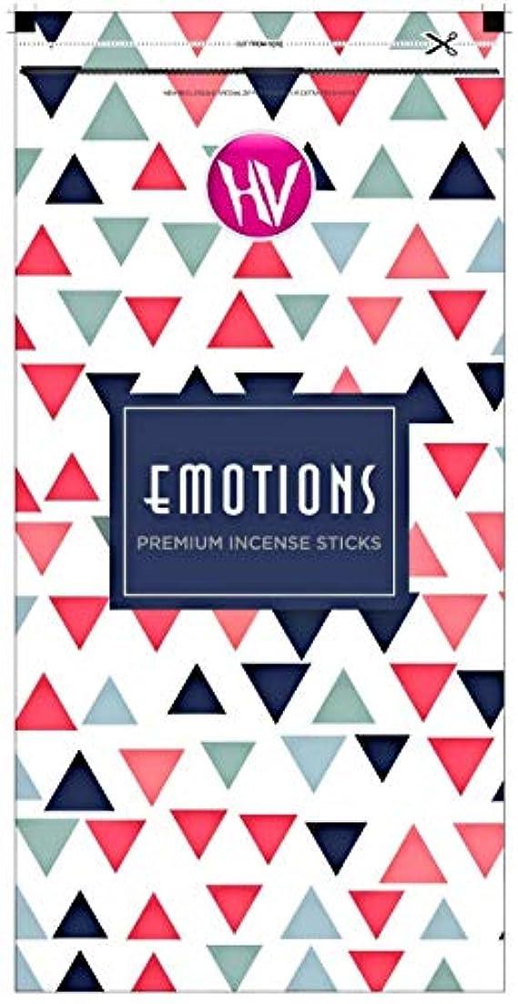 生きる私引用HV Emotions Incense Sticks (Agarbatti) Zipper Pouch 140g (Pack of 6)