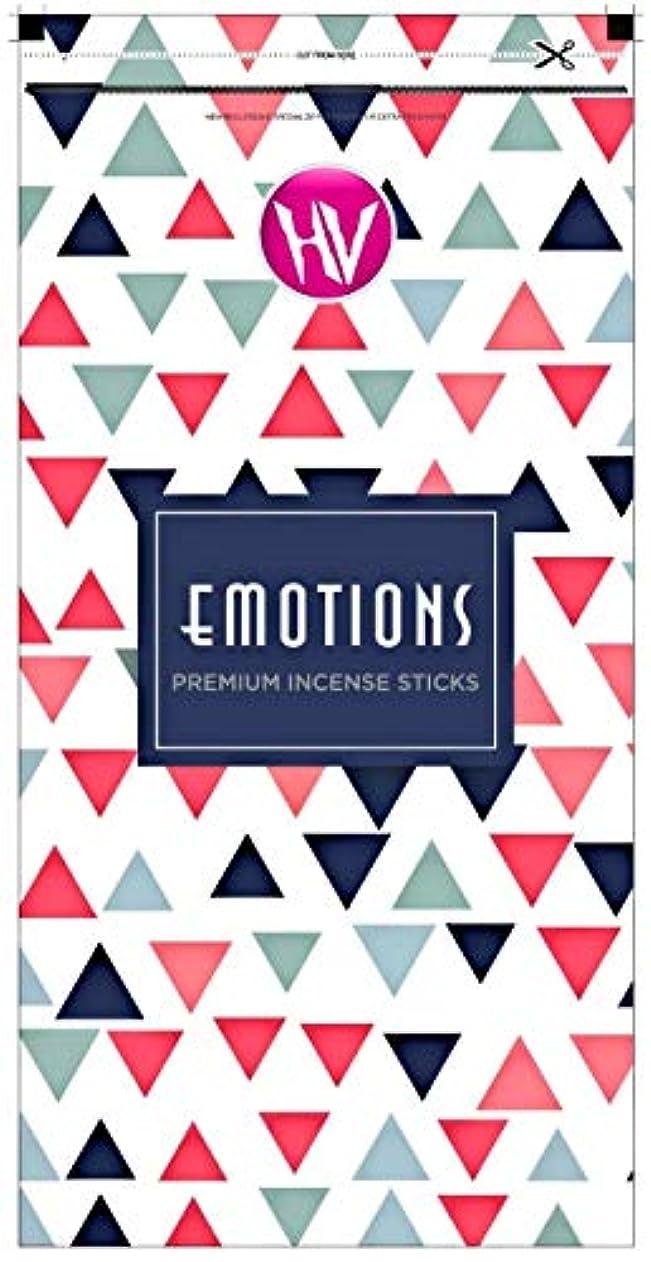 注意凝縮する攻撃HV Emotions Incense Sticks (Agarbatti) Zipper Pouch 140g (Pack of 6)