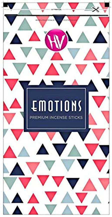 セレナ続編高価なHV Emotions Incense Sticks (Agarbatti) Zipper Pouch 140g (Pack of 6)