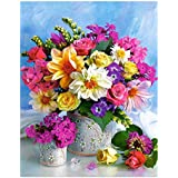 "Diamond Painting Kit, 5D DIY Diamond Needlework Flower for Home Room Decor (12""x16""/30x40cm)"