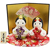 桃の節句 ひな人形 錦彩 花わらべ 雛 2552