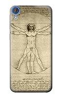 JP0375D82 ダ・ヴィンチ ウィトルウィウス的人体図 Da Vinci Human Figure HTC Desire 820 ケース