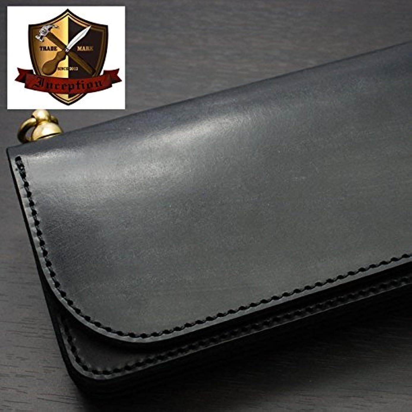 革命影のある主要なINCEPTION(インセプション) 長財布 メンズ 本革 UKブライドルレザー?ロングウォレット 真鍮製回転トチカン付 IPW-02-BK ブラック 日本製