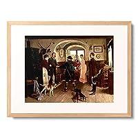Haussler, Franz Erdmann 「Der Besuch im Forsthaus.」 額装アート作品