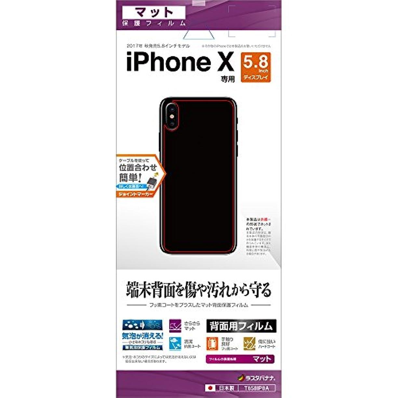 バーチャル美人画像ラスタバナナ iPhone X フィルム 平面保護 指紋?反射防止 (アンチグレア) アイフォン 背面保護 T858IP8A