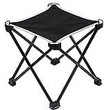 MUSON(ムソン) アウトドアチェア 折りたたみ椅子 ウルトラライトチェア 耐荷重80kg 超軽量 350g コンパクト 持ち運びに便利 簡単に収納 組み立て椅子 収納バッグ付き お釣り 登山 キャンプ用 YS1 ブラック
