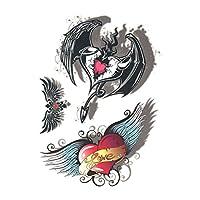 タトゥーシール ハート 3Dカラーアート (GT-340)Tattoo seal ボディシール フェイクタトゥー タトゥシール刺青 トライバル ボディアート ボディジュエリー