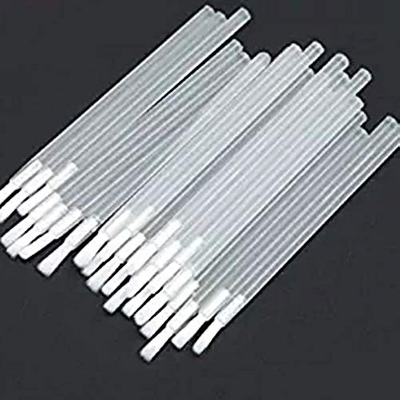 アイライナーブラシ 使い捨てリップブラシ 化粧筆 化粧ブラシ 携帯用 便利 約50本 メイクブラシ 化粧用品 化粧筆 使い捨てラシ (white1)