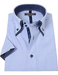 シャツスタイル(shirt style)ysh-6003/S M L LL 3L/半袖ワイシャツ メンズ おしゃれ ワイシャツ 半袖 ス
