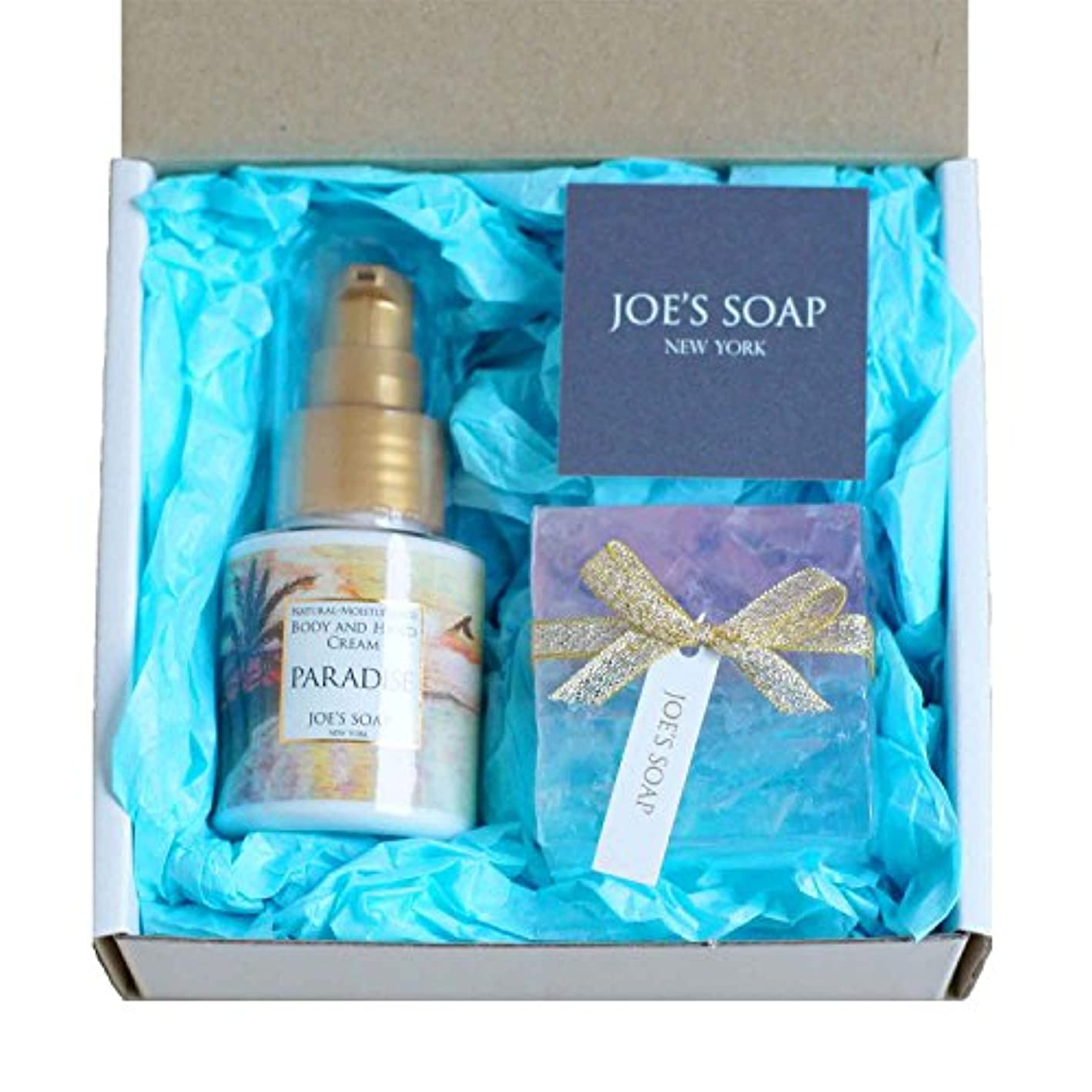 効率的に非互換快適JOE'S SOAP (ジョーズソープ) ギフトボックス(PARADISE) ハンドクリーム ボディクリーム 石鹸 保湿 ポンプ ボディケア スキンケア ギフト プレゼント いい香り