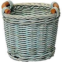 1個ハンドメイドミニデスク収納バスケット、ペン&ペンシルホルダー(青)